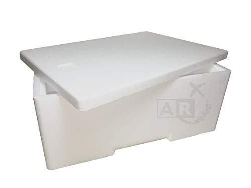 A/R SPEDIZIONI Caja térmica de poliestireno de 3 kg/3 l, caja térmica para transporte de alimentos