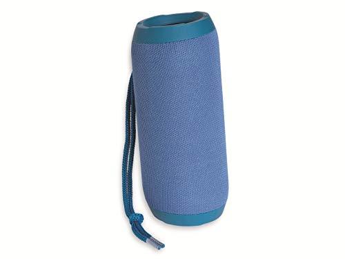 Denver BTS-110 Blue Tragbarer Lautsprecher FM-Radio-Tuner. Bluetooth und USB Anschluss AUX-Eingang und SD-Kartensteckplatz. Wiederaufladbarer Akku 1200 mAh. Volumen: 10W Blau