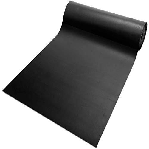 Gummiplatte NR/SBR | Stärke: 5mm Vollgummi | Gummimatte für Dichtung, Isolation, Bodenbelag etc. | 12 Größen wählbar | 120x83cm