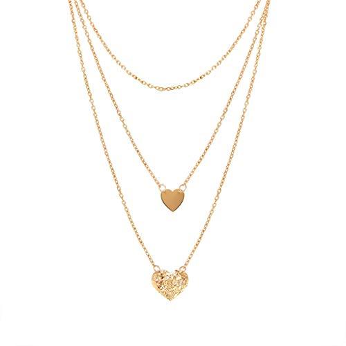 HSKB - Collar de Plata para Mujer 926 de Plata de Ley con Cristal Ajustable para el Cuello