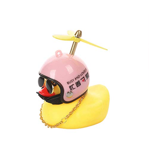 JOAN Bike Bell Head Light, Shining Duck Bicycle Horn with Bike Light, Squeeze Horn Loud Quack Sound, Cycling Light Cute Rubber Duck Toy for Toddler Kids Girls Boys Adult