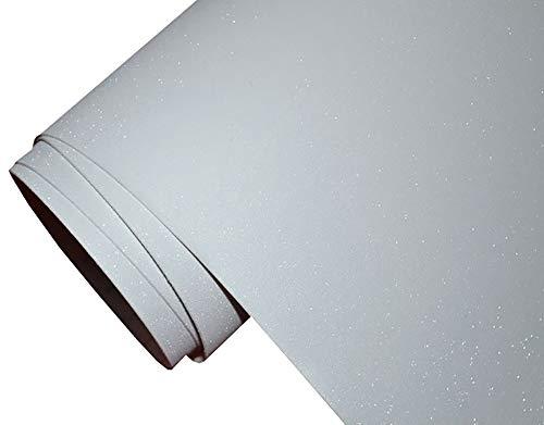 6€/m² Auto Folie - glitzer weiss 30 x 150 cm - selbstklebend BLASENFREI flexibel Car Wrapping Klebefolie folieren