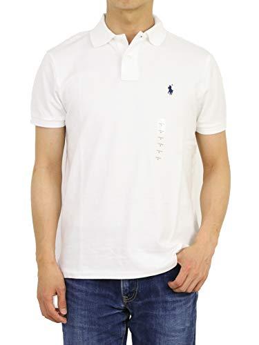 (ポロ ラルフローレン) POLO Ralph Lauren カスタム スリム フィット メンズ 鹿の子 半袖 ポロシャツ CUSTOM SLIM FIT 0105607-XL-WHITE [並行輸入品]