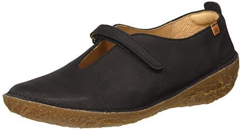 El Naturalista Borago, Zapatillas sin Cordones Mujer, Negro (Black Black), 42 EU
