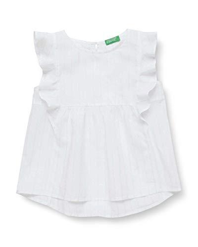 United Colors of Benetton 5OV55QH80 Blusa, Bianco (Bianco 901), 146 (Taglia Produttore:XL) Bambina