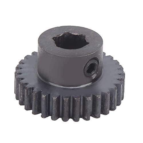 Piñón 8mm Acero fundido 30 dientes Eje de engranaje Motor Engranaje Rueda dentada Orificio de engranaje Robots industriales Repuestos