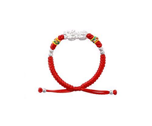ZHLL Pulsera de plata 999 para hombre y mujer de Año Nuevo, bendición, riqueza y salud, regalos de joyería ()