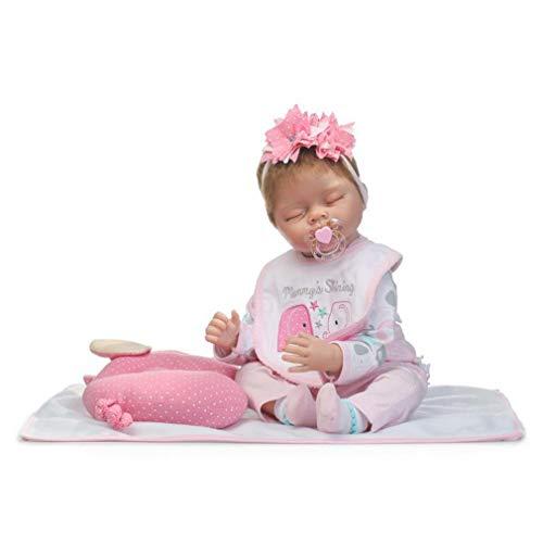 SXFJF 55CM Reborn Baby Doll, Naturgetreue Vinylbabypuppen-Mädchen-Weiches Silikon-Spielzeug, Mit Down-Syndrom Und Beweglichen Armen Und Beinen