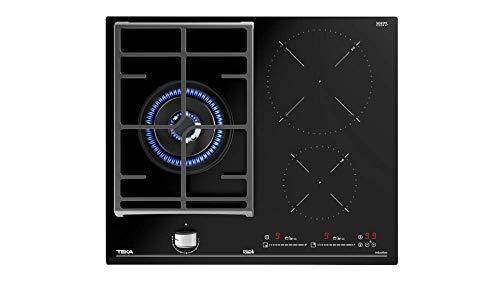 Teka JZC 63312 ABN Kochplatte Hybrid 60 cm mit Direktfunktionen und 3 Zonen | Glas Schwarz | 5,5 x 60 x 51 | 3 Kochzonen (2 Induktion + 1 Gas), NORMAL