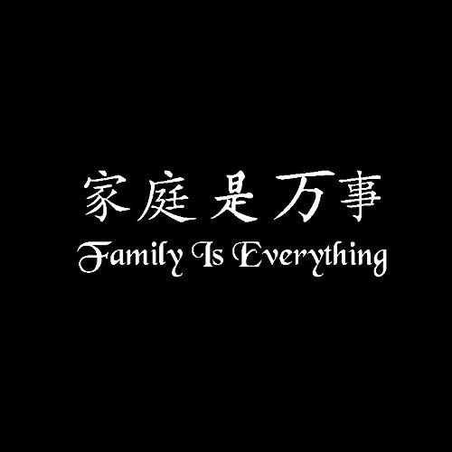 WYLYSD Car sticker 18CM*6.2CM Fashion Family Is Everything Vinyl Car Sticker Decal Black Silver Accessories C15-2429 Silver