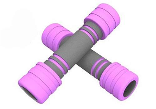 Capacitación 1KG Home Sports Ladies Foam Soft Dumbbells Thin Arm Dumbbell Set Conjunto de Pesas fijas Fitness Equipment Ejercicio (Color : Pink)