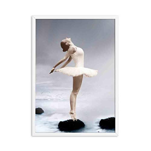 lubenwei Canvas painting Elegant Ballet Dancer Posters and Prints Photo Nordic Style Girl Portrait Shoes Wall Art Pictures Canvas Painting (AP-815) 50x70cm No frame