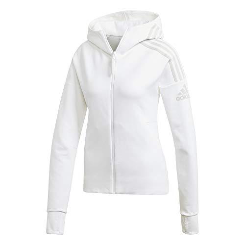 adidas Damen Sweatshirt W ZNE Hd, Blanco, S, FL1960