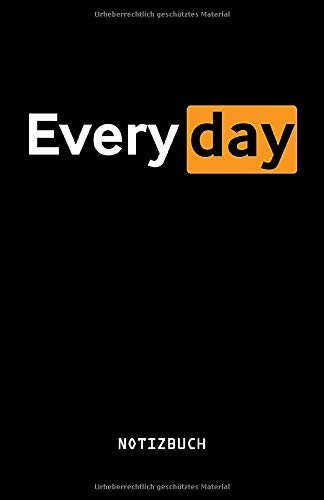 Everyday Notizbuch: 110 vorgefertigte Seiten | ca. DIN A5 | Zum selbst abhaken und Notizen aufschreiben