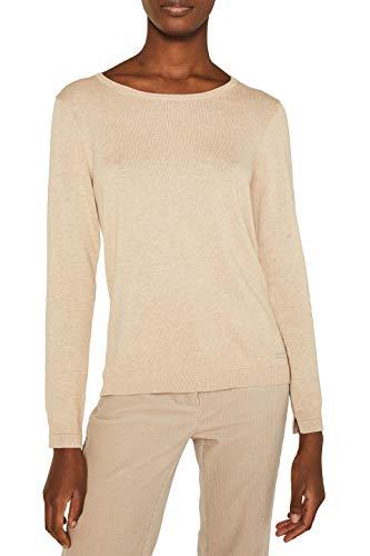 ESPRIT Damen 999Ee1I801 Pullover, Beige (BEIGE 5 274), Medium (Herstellergröße:M)