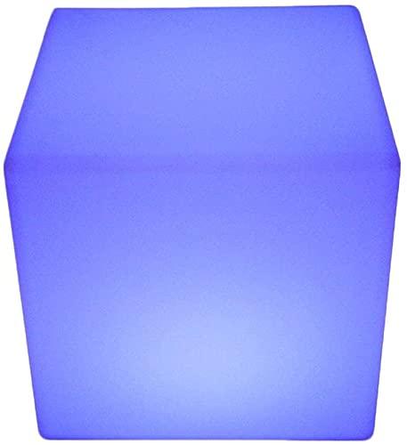 Paddia Fiesta LED Luminoso Patio Lámpara Taburete Cuadrado Exterior Interior Luz de Noche Cubo Impermeable Control Remoto Magic 16 RGB Mesa Auxiliar Que Cambia de Color Dormitorio Patio Piscina Humor