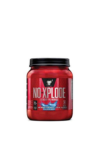 BSN Nutrition N.O.-Xplode, Suplementos Deportivos Pre Workout en Polvo con Creatina Monohidrato, Cafeina, Beta Alanina, Vitamina D y Vitamina B Complex, Frambuesa Azul, 50 Porciones, 1.05kg
