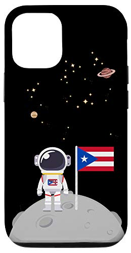 iPhone 12/12 Pro Boricua En La Luna Con la Bandera de Puerto Rico Borinaut Case