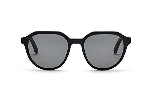 TAKE A SHOT Holz-Sonnenbrille Herren Panto Schwarz, Eckig, Rund, Graue Gläser, UV400 Sonnenbrille Holz FERGUSON