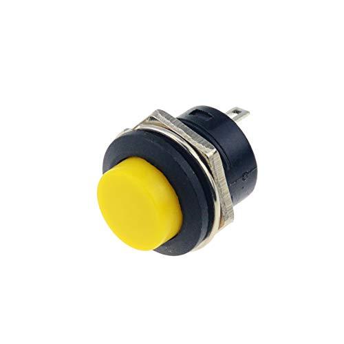 XINGYAO Interruptor Giratorio 6pcs R13-507 16mm AUTOMÓVIL DE AUTOMÓVIL AUTOMÓVIL Interruptor 6A / 125VAC 3A / 250VAC (Color : Yellow)