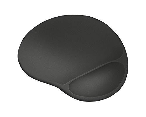 Trust Bigfoot XL Gel Mauspad (Extragroße Mausoberfläche 255 x 295 mm, Ergonomischer Softgel-Handgelenkauflage, Oberflächenstruktur für flüssige Steuerung) Schwarz