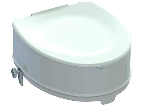 Rialzo WC con sistema di fissaggio + coperchio, rialzo 14 cm