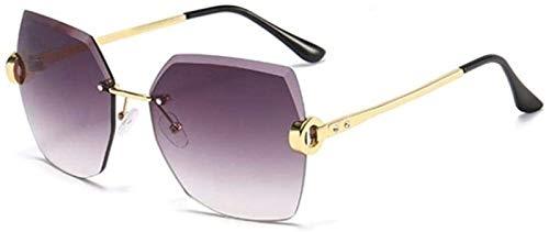 Caja De Gafas Femeninas Sexy Square Gafas De Sol Sin Marco Top Fashion Shades Gafas De Sol para Mujeres Hombres (Color : A)