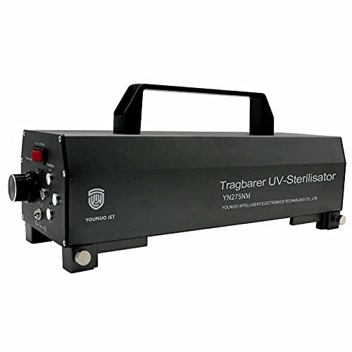 YOUNUO IET Esterilizador de superficie de mano UV-C, longitud de onda 275 NM, lámpara UV-C, 99,99% de eficiencia en 1 minuto, carga USB, 4-5 horas en espera (pistola gris).