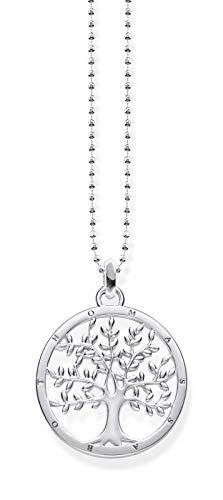THOMAS SABO Damen Kette mit Anhänger Tree of Love Glam & Soul 925 Sterling Silber KE1660-001-21-L45v
