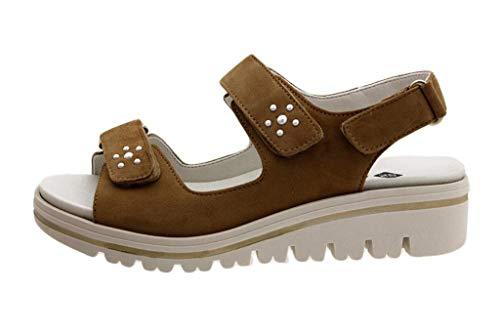 Zapato Cómodo Mujer Sandalia Plantilla Extraíble Ante Duna 180781 PieSanto