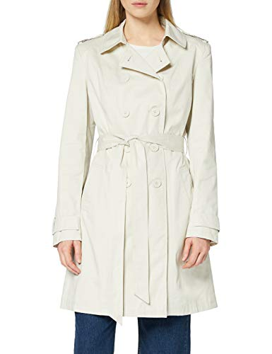 Marchio Amazon - find. Trench in Cotone Donna, Beige (Ecru), 42, Label: S