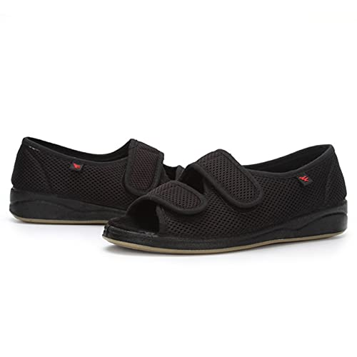 Zapatos Diabéticos Para Mujeres, Sandalias Ligeras De Malla Para Mujeres, Calzado Para Mujer Para Pies Hinchados, Zapatos De Artritis De Cojines De Aire Para Mujeres, Aptos Para L(Size:37,Color:negro)