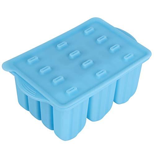 Molde para helado de 12 rejillas con tapa Molde de silicona Pudín de leche helada para yogur