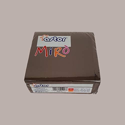 LUCGEL Srl 80 Pezzi Tovaglioli Mirò Marrone Scuro ASTOR 38x38 Carta Colorati Decorati Brown Napkins
