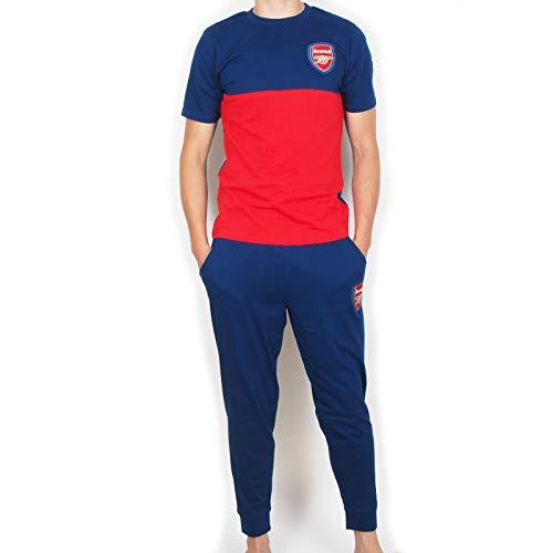 Arsenal FC - Herren Premium-Schlafanzug mit Langer Hose - Offizielles Merchandise - Geschenk für Fußballfans - XL