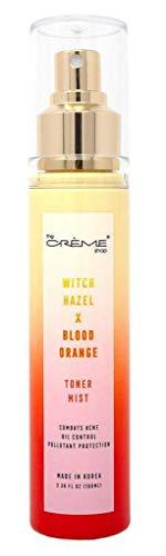 The Creme Shop Korean Cosmetics Beauty Face Toner Mist 3.38oz (Witch Hazel+Blood Orange) Combats Acne, Oil Control, Pollutant Protection