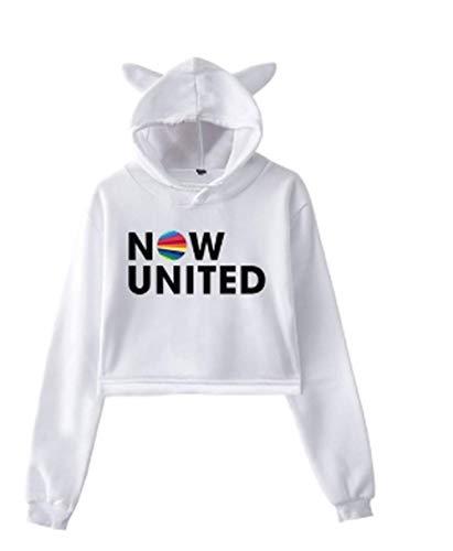 Now United Better Album Cat 2020 Fashion Hoodie Women Better Now United Lyrics Pullover Girl Kawaii Sexy Kleidung Lovely Hoodies Gr. XS, weiß