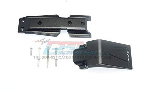 G.P.M. Traxxas E-Revo 2.0 VXL Brushless (86086-4) Aluminum Front Skid Plate - 2Pc Set Black