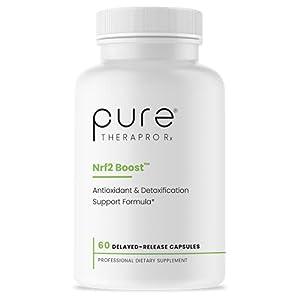 Nrf2 Boost - 60 Veggie Capsules   Oxidative Stress Formula   NRF-2 Activator with Sulforaphane   Contains: truebroc, Curcumin, Green Tea (EGCG), Trans-Pterostilbene (Silbinol), Myrosinase & BioPerine