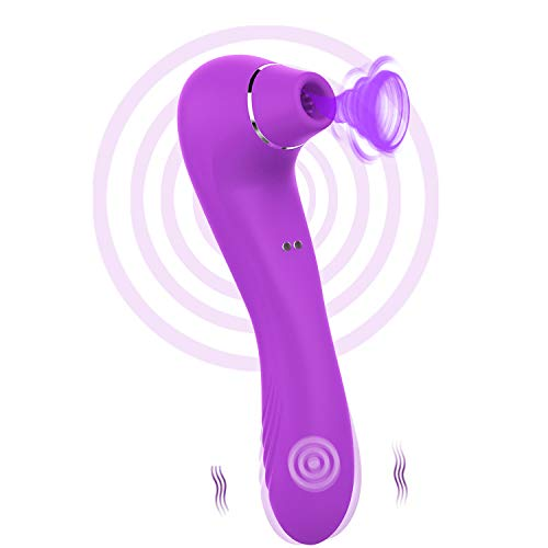 FIDECH Masajeador Portátil para Mujer, 12 Modos de Frecuencia Inalámbrico Control Remoto, Silicona Suave, Impermeable, Carga USB