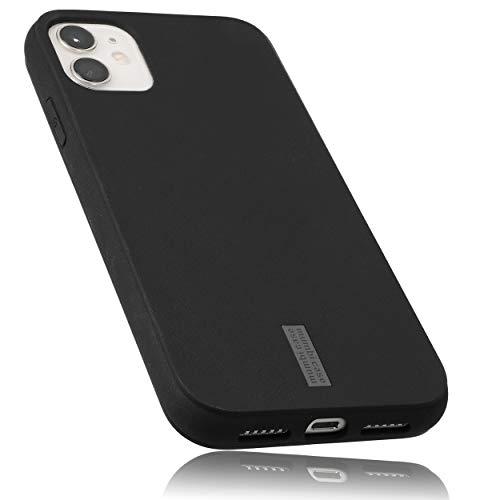 mumbi Hülle kompatibel mit iPhone 11 Handy Hülle Handyhülle, schwarz mit grauem Streifen