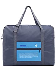 KWJOY حقيبة رياضية قابلة للطي مصنوعة من النايلون المقاوم للماء للرياضات الرياضية السفر الأزرق