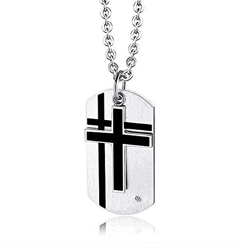 LBBYLFFF Collar Collar Collar Temple Knight in hoc Sign vinces crux Cabujón de Cristal Reloj de Bolsillo de Cuarzo Retro Hombre Mujer Collar con Colgante Reloj Regalos