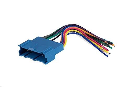 Scosche GM03B Compatible with Select 1994-05 GM Power/Speaker Connector / Wire Harness for Aftermarket Stereo Installation with Color Coded Wires
