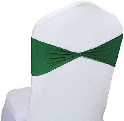 mds Pack of 50 Spandex Chair Sashes Bow sash Elastic Chair Bands Ties Without Buckle for Wedding product image