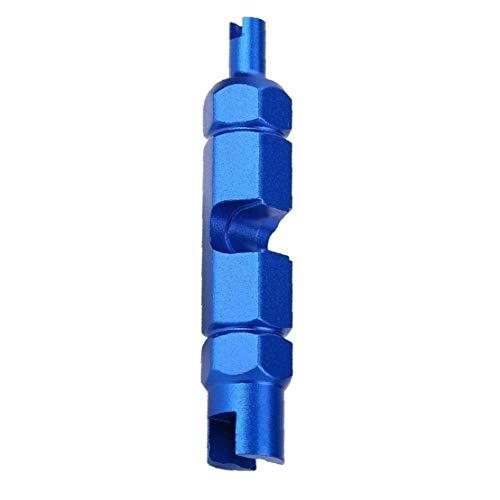 Hiinice Ventileinsatz-Schlüssel-Remover-Tool zum Entfernen Disassemble Fahrradschlauchreifen Multifunktions-Doppel-Kopf Presta Schrader