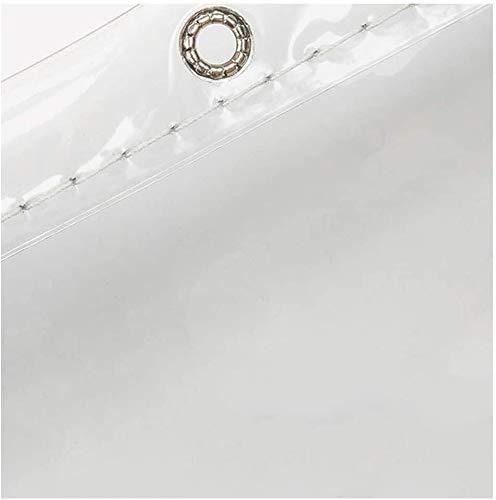 Lona Transparentes revestimientos for el Suelo de Lona Impermeable for Acampar, Pescar, jardín y Animales domésticos Pesada Lona de plástico de PVC, de 600 g/m² (Size : 2mX6m)