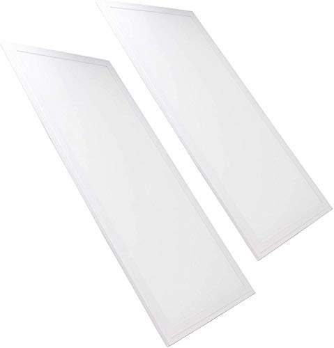 FactorLED Pack 2x Panel LED 60x30 24W CCT Luz Seleccionable, Marco Blanco, 2 unidades Lampara LED...