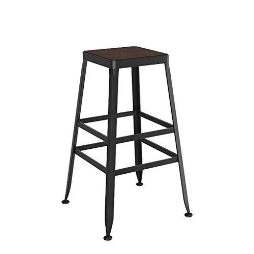 ZfgG Home bar meubelkruk, ijzer, ontbijt eettafel voor keuken bar huiszaak hoge stoel met houten stoel loft industriële retro stijl