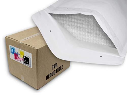 UG-ECO-C3 100 Enveloppes à Bulles d'air Pochettes Bulle, taille C C3 C/3 int. 150 x 215 mm pour A5, Enveloppe Bulle, Enveloppe Matelassées d'Expédition Pochette Protection d'Envoi